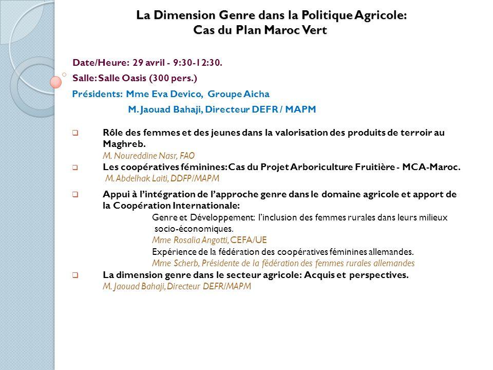 Atelier sur le Conseil de Gestion au Maroc Date/Heure: 29 avril - 9:30-12:30.
