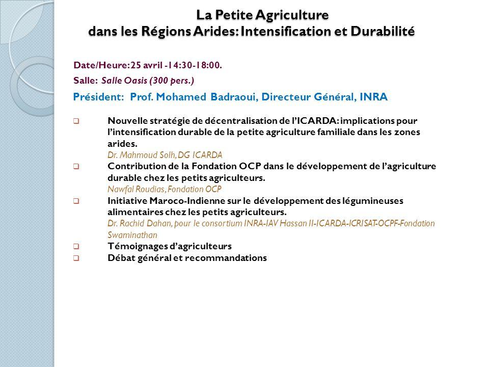 Appui de l UE au Conseil Agricole Appui de l UE au Conseil Agricole Date/Heure: 25 avril – 15:00-16:30 Salle: Salle des Assises Ouverture : M.