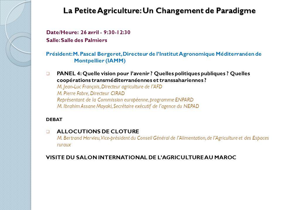 Investissement dans le Secteur Agro-alimentaire: Offres et Perspectives.