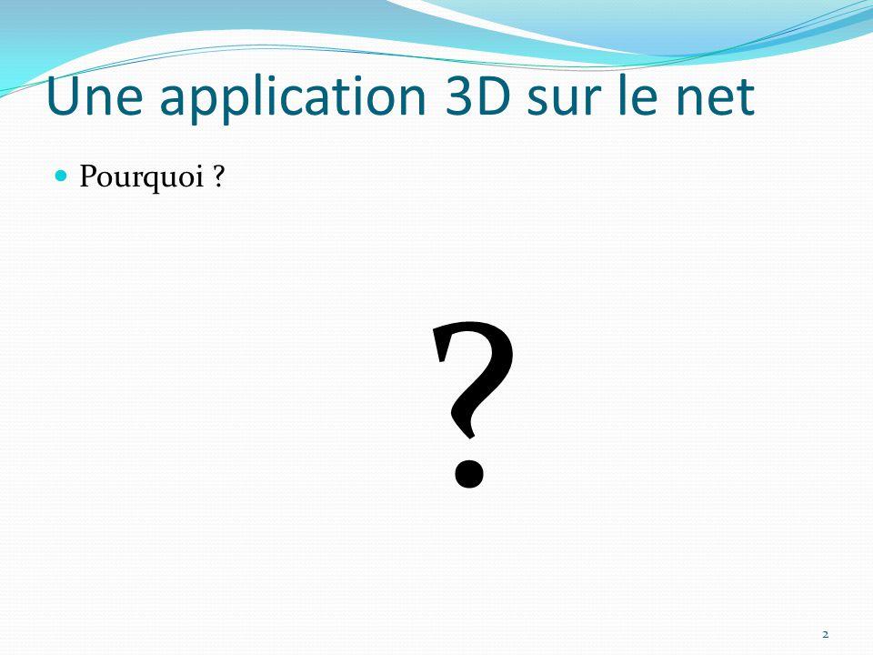 Une application 3D sur le net Pourquoi ? ? 2