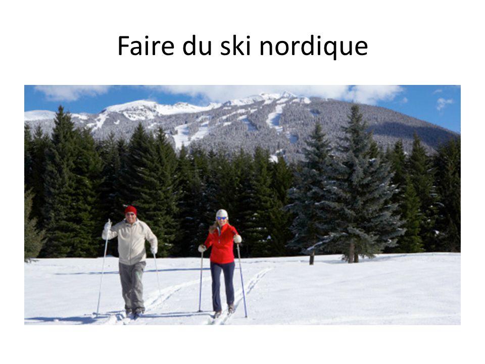 Faire du ski alpin
