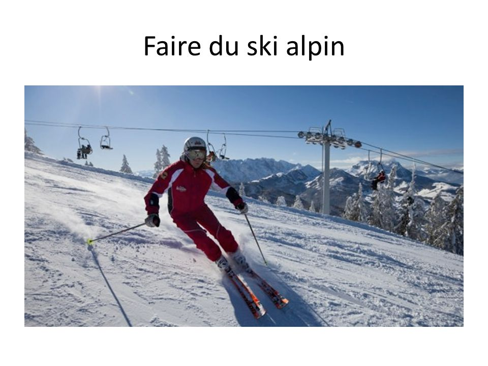 Faire du ski alpin
