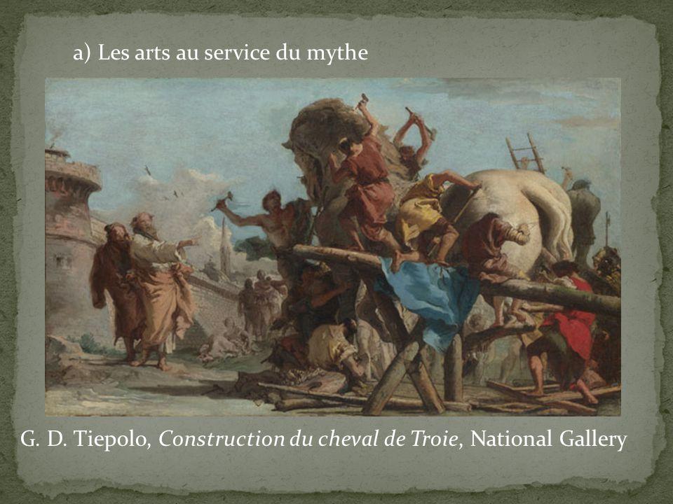 a) Les arts au service du mythe G. D. Tiepolo, Construction du cheval de Troie, National Gallery