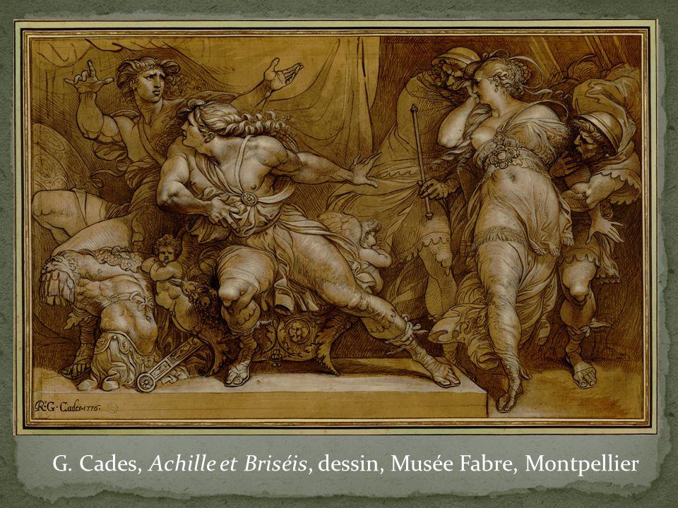 G. Cades, Achille et Briséis, dessin, Musée Fabre, Montpellier