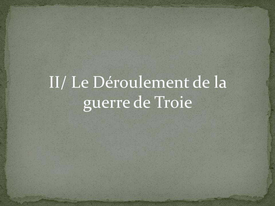 II/ Le Déroulement de la guerre de Troie
