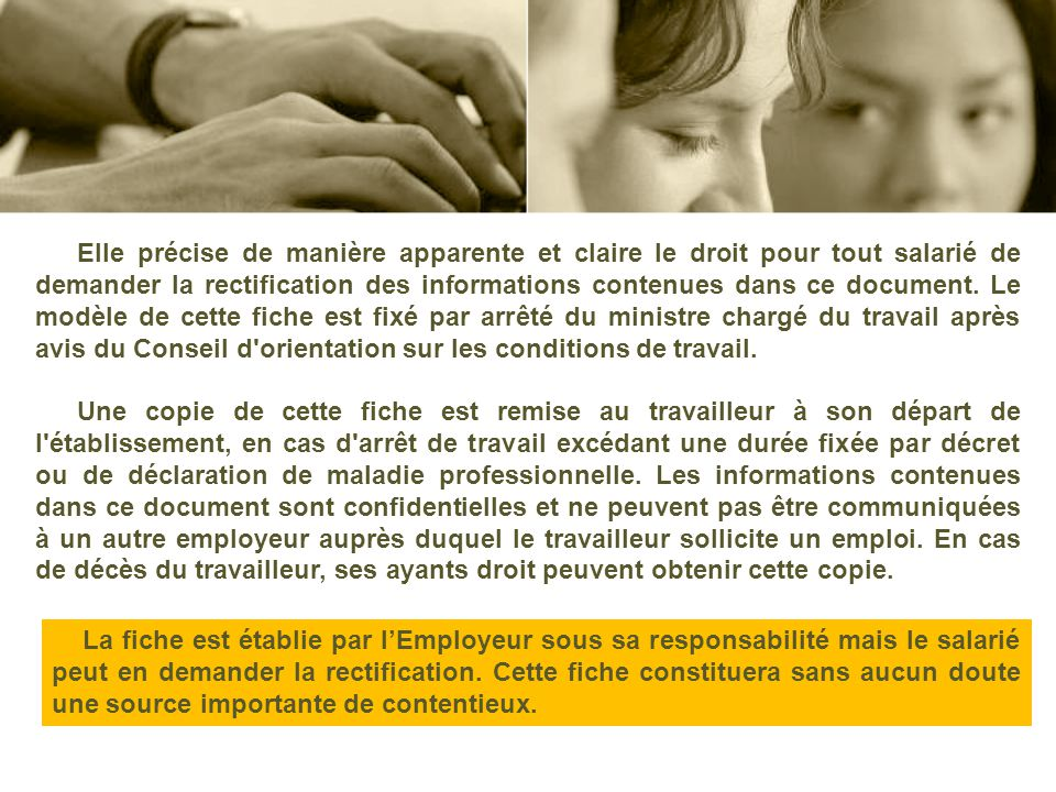 LES FACTEURS DE RISQUES DEFINIS PAR LARTICLE D.