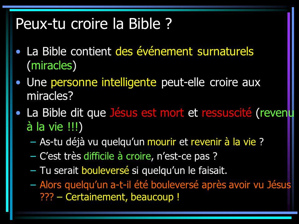 Peux-tu croire la Bible .