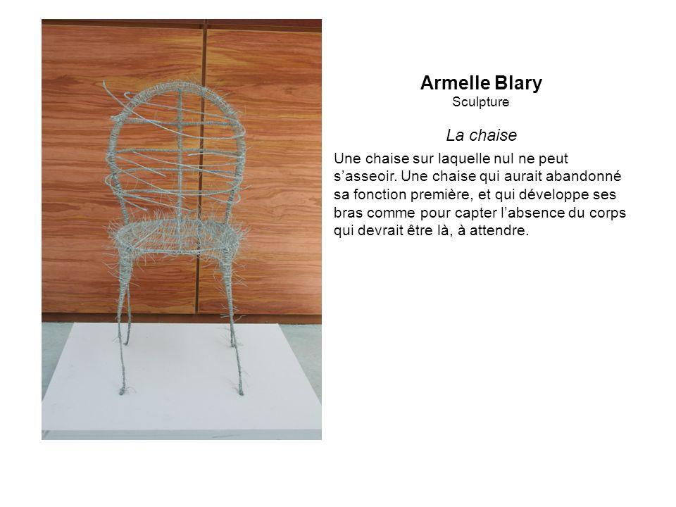Armelle Blary Sculpture La chaise Une chaise sur laquelle nul ne peut sasseoir.