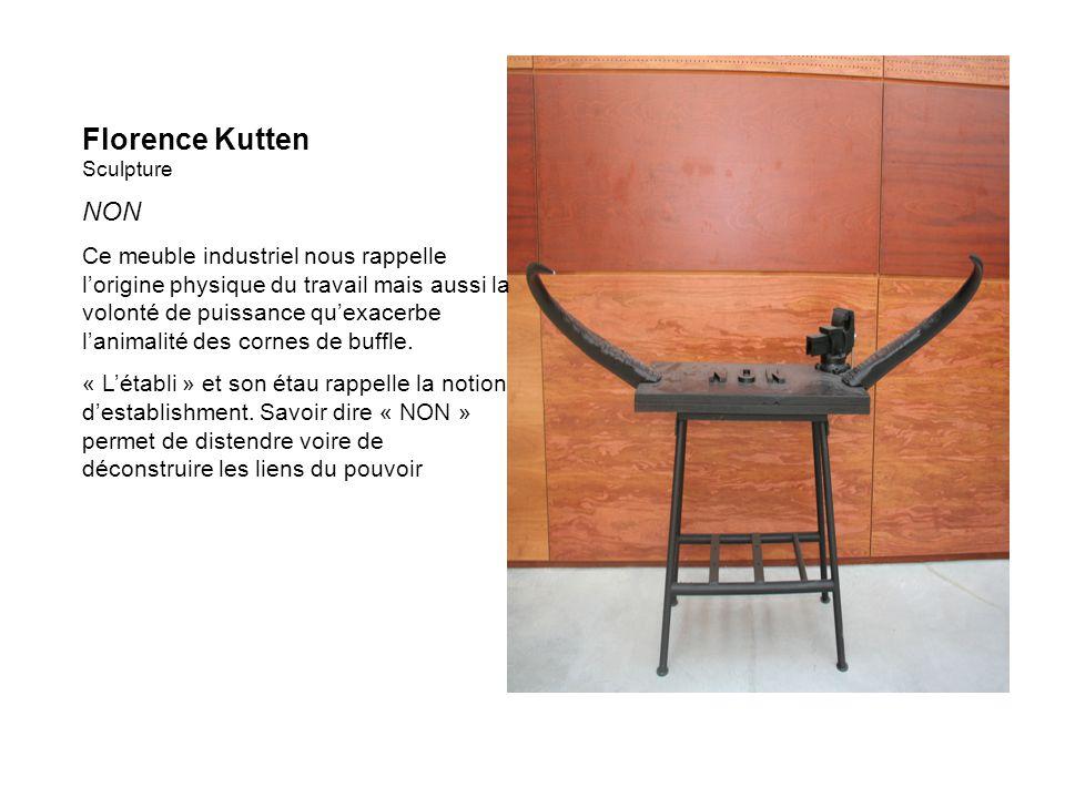 Florence Kutten Sculpture NON Ce meuble industriel nous rappelle lorigine physique du travail mais aussi la volonté de puissance quexacerbe lanimalité des cornes de buffle.