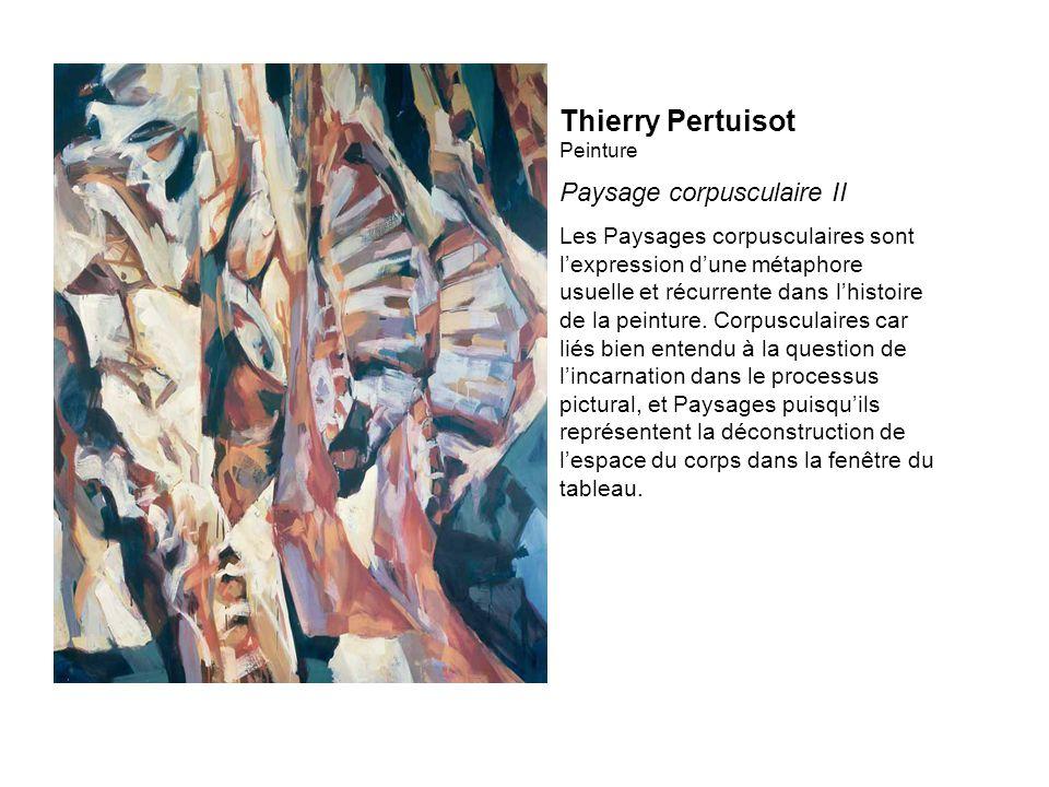 Thierry Pertuisot Peinture Paysage corpusculaire II Les Paysages corpusculaires sont lexpression dune métaphore usuelle et récurrente dans lhistoire de la peinture.