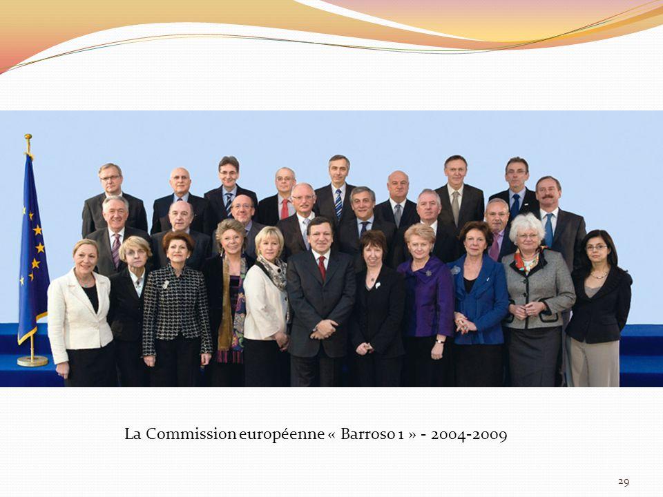 La Commission européenne « Barroso 1 » - 2004-2009 29