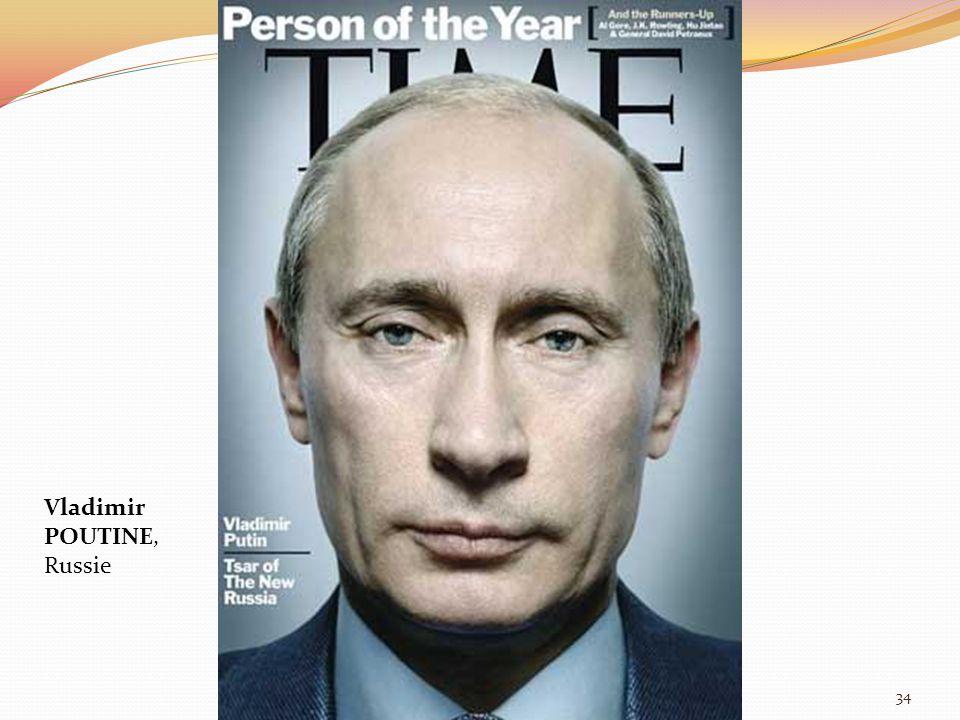 Vladimir POUTINE, Russie 34
