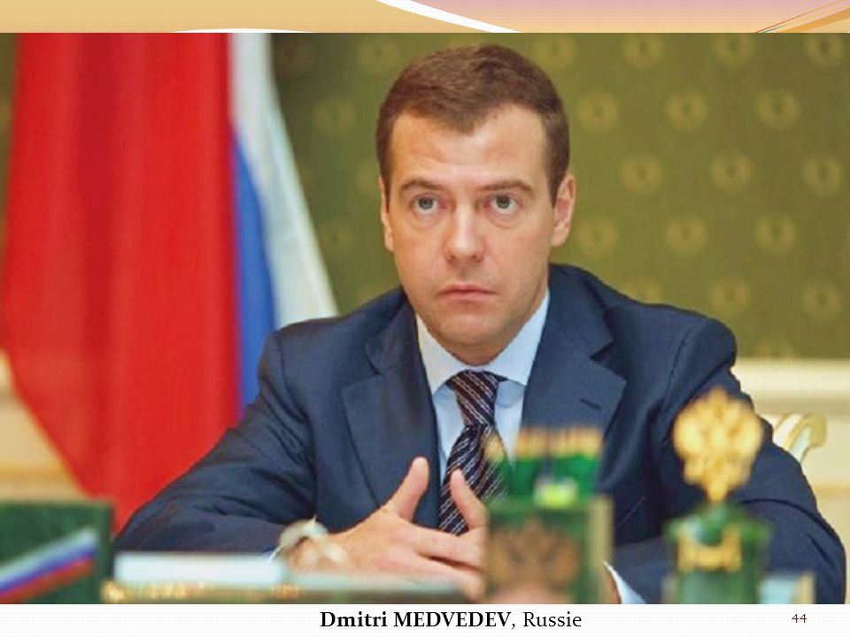 Dmitri MEDVEDEV, Russie 44