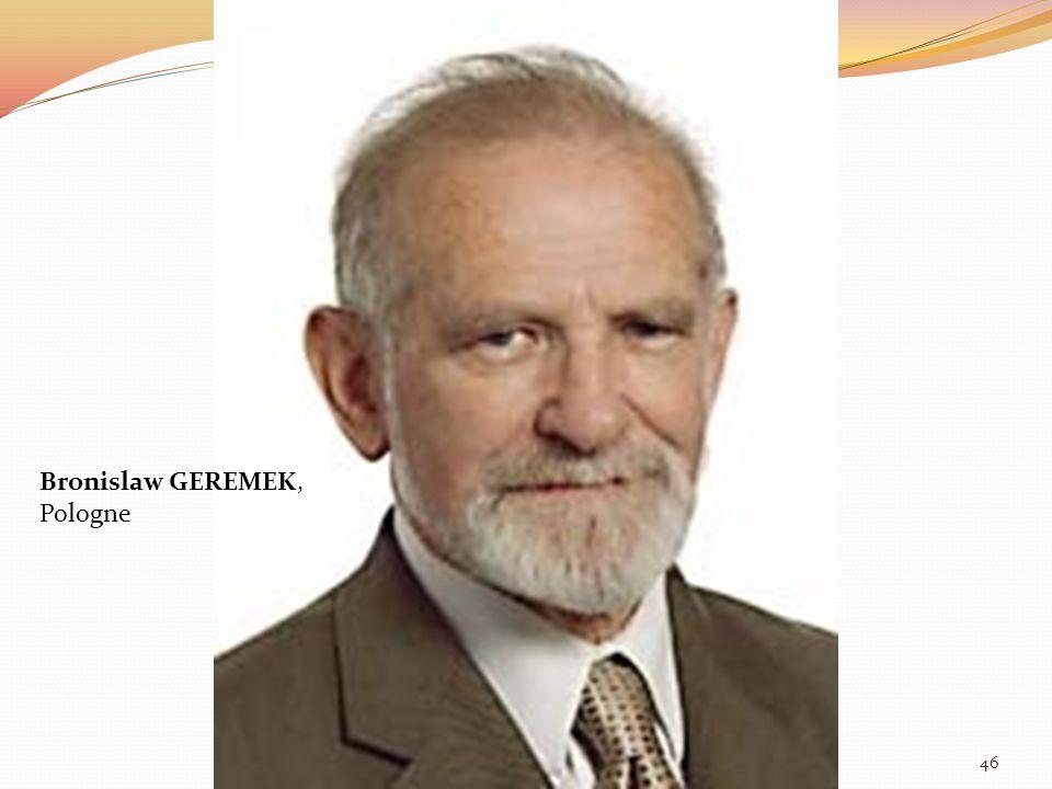 Bronislaw GEREMEK, Pologne 46
