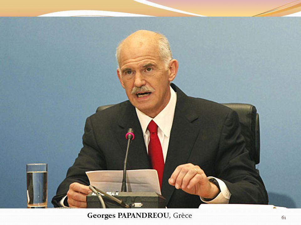 Georges PAPANDREOU, Grèce 61