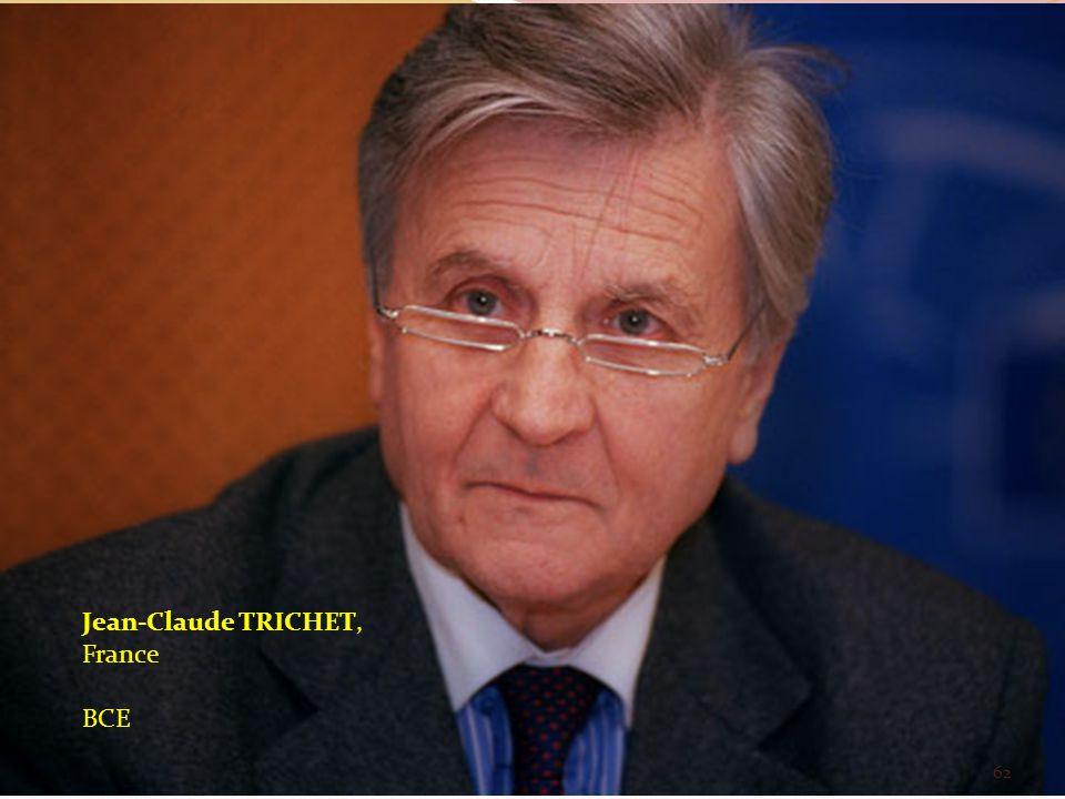 Jean-Claude TRICHET, France BCE 62