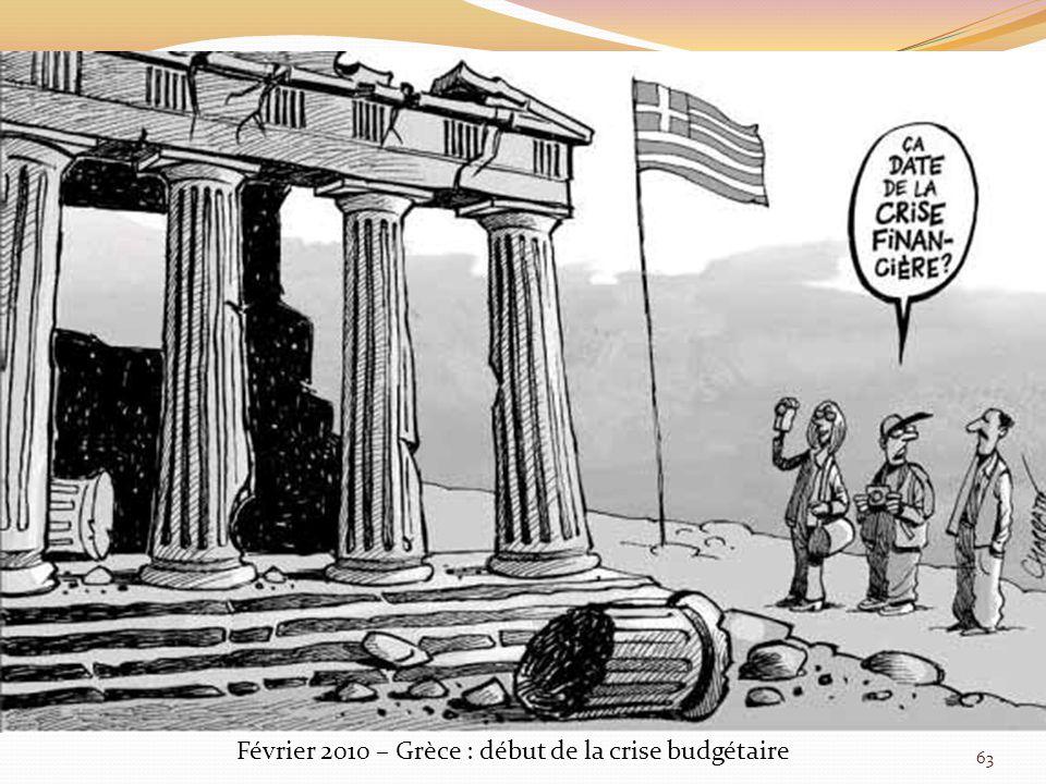 Février 2010 – Grèce : début de la crise budgétaire 63