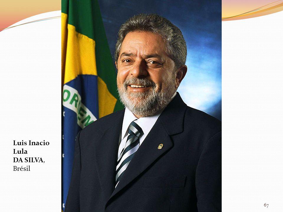 Luis Inacio Lula DA SILVA, Brésil 67