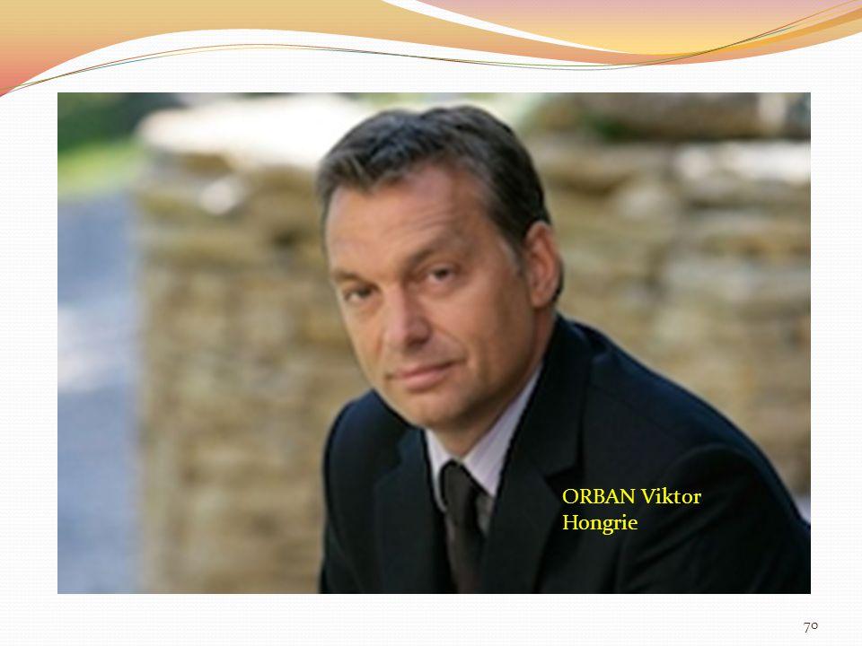 ORBAN Viktor Hongrie 70