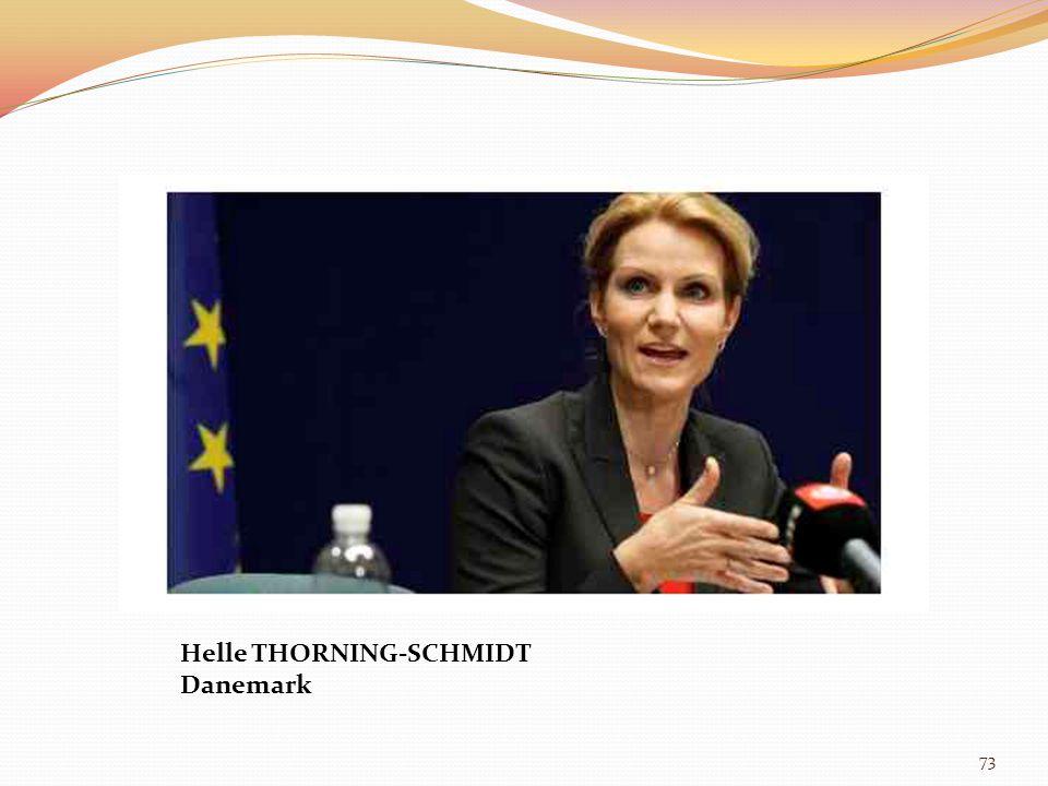 73 Helle THORNING-SCHMIDT Danemark