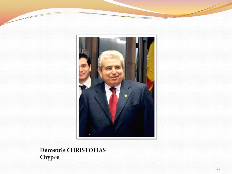 77 Demetris CHRISTOFIAS Chypre