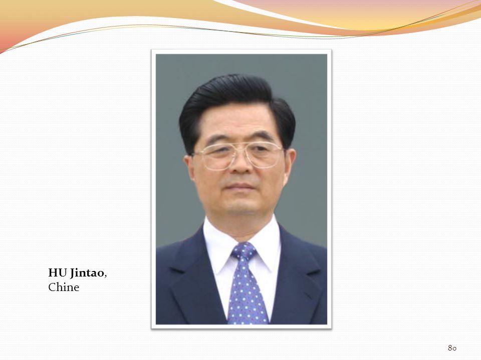 HU Jintao, Chine 80