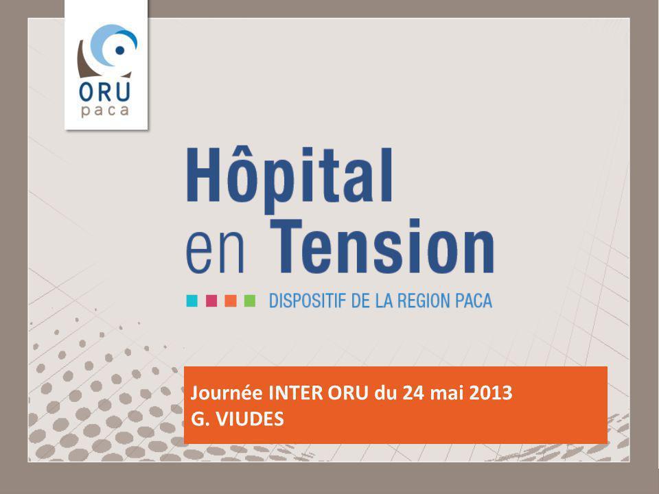 Observatoire Régional des Urgences Provence-Alpes-Côte dAzur Journée INTER ORU du 24 mai 2013 G. VIUDES