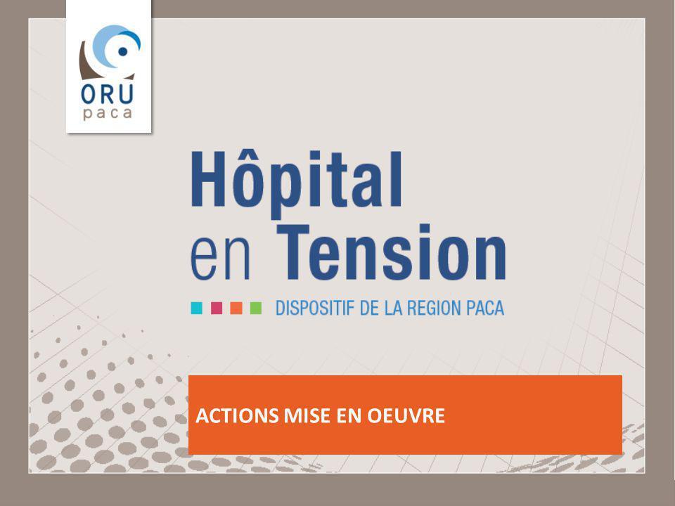 Observatoire Régional des Urgences Provence-Alpes-Côte dAzur ACTIONS MISE EN OEUVRE