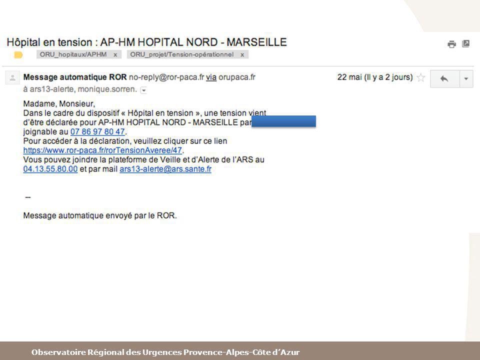 Observatoire Régional des Urgences Provence-Alpes-Côte dAzur