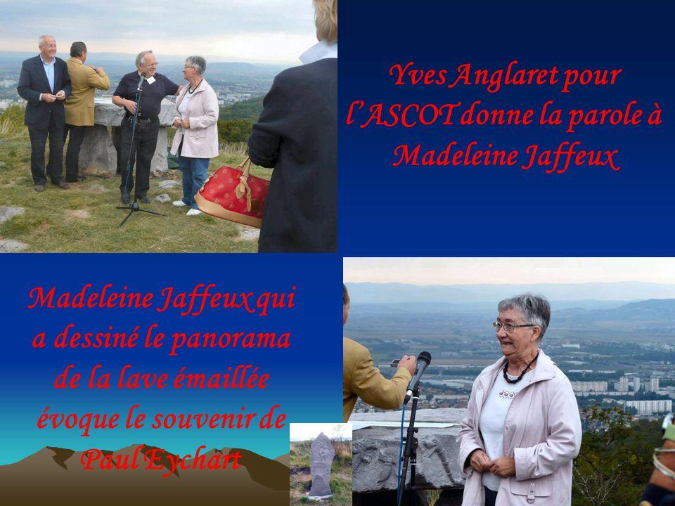 Madeleine Jaffeux qui a dessiné le panorama de la lave émaillée évoque le souvenir de Paul Eychart Yves Anglaret pour lASCOT donne la parole à Madeleine Jaffeux
