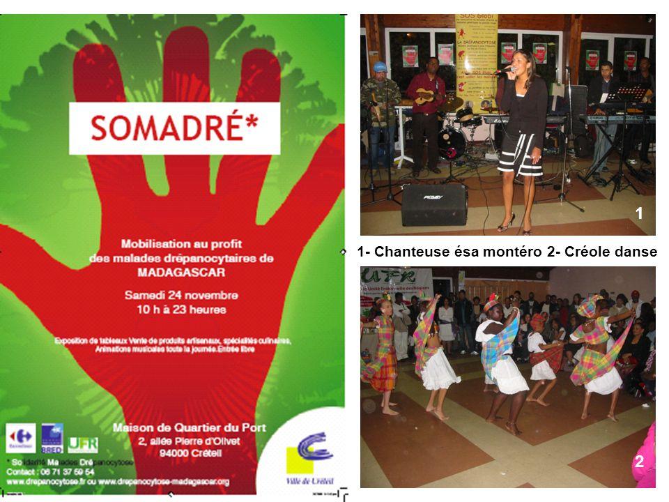 1- Chanteuse ésa montéro 2- Créole danse 1 2