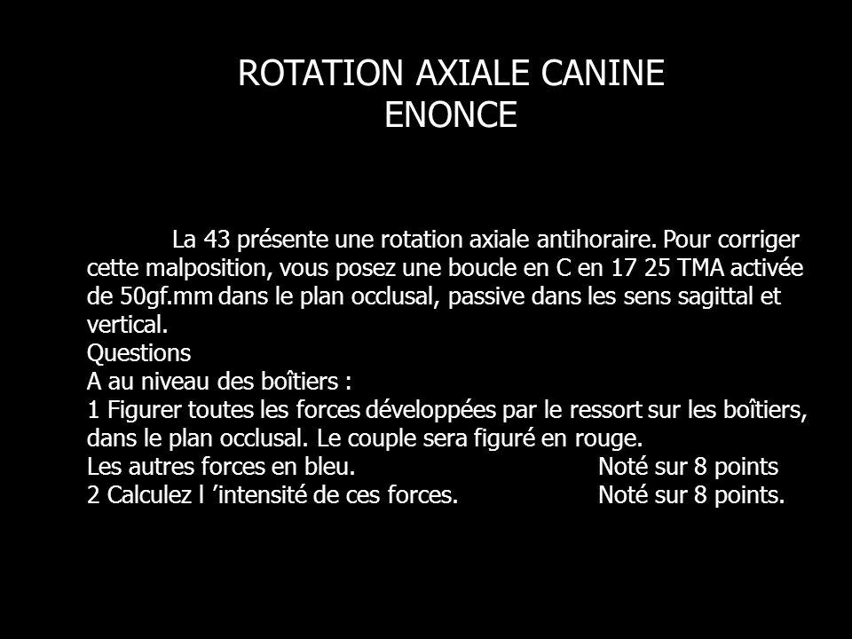 La 43 présente une rotation axiale antihoraire.