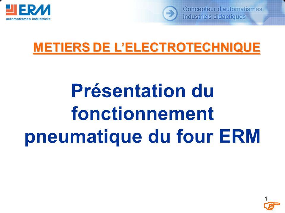 1 METIERS DE LELECTROTECHNIQUE Présentation du fonctionnement pneumatique du four ERM