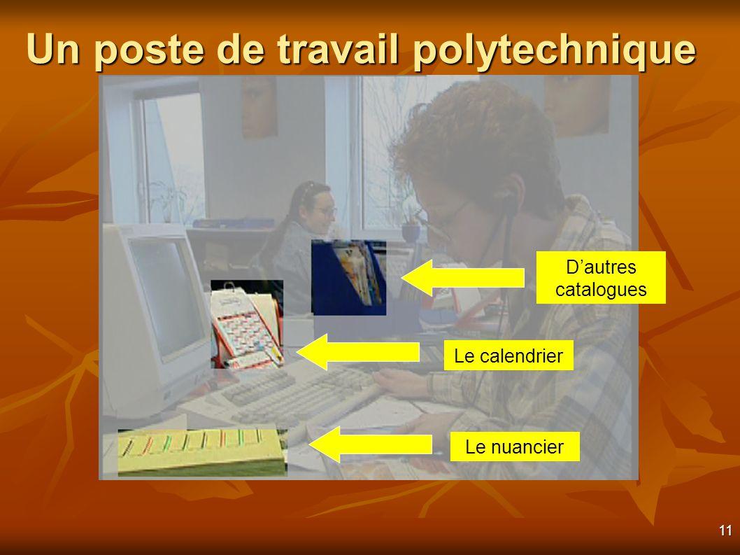 11 Un poste de travail polytechnique Le nuancier Le calendrier Dautres catalogues