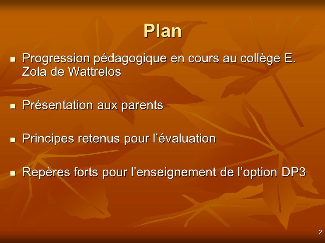 2 Plan Progression pédagogique en cours au collège E.