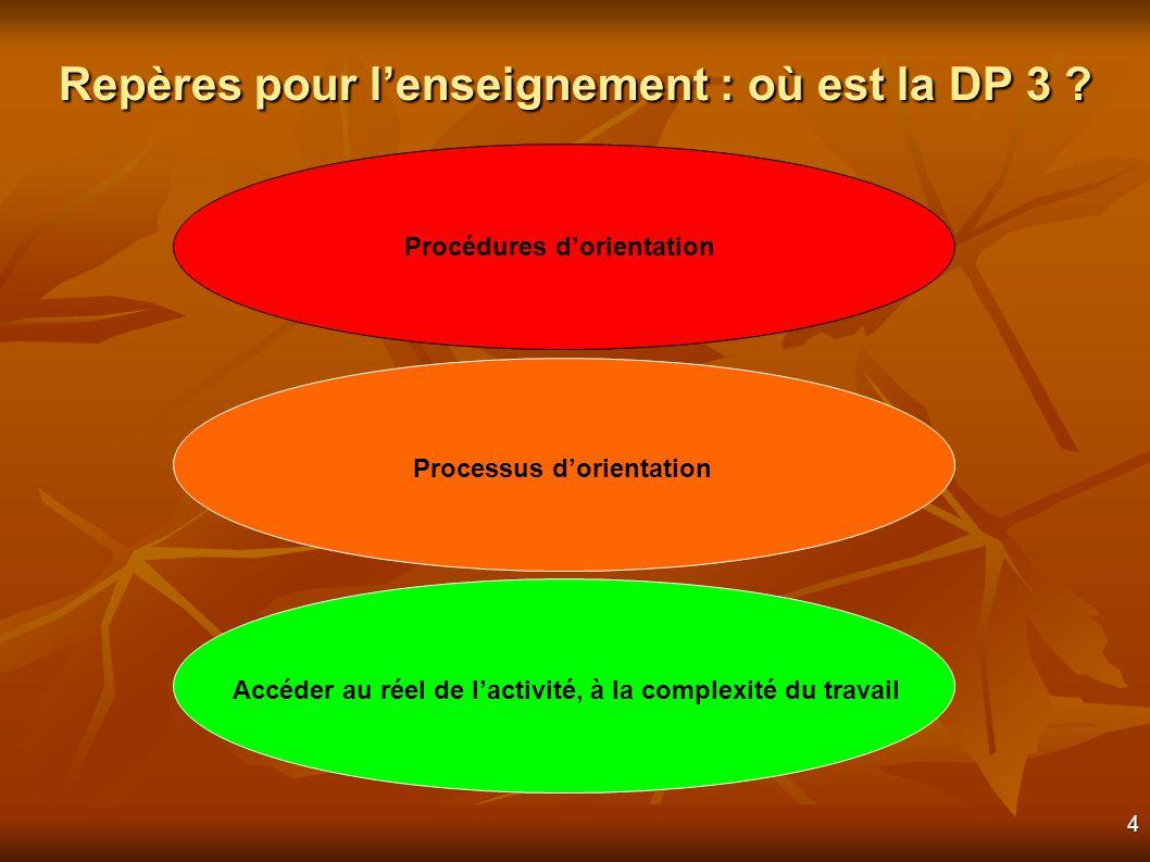 4 Repères pour lenseignement : où est la DP 3 .