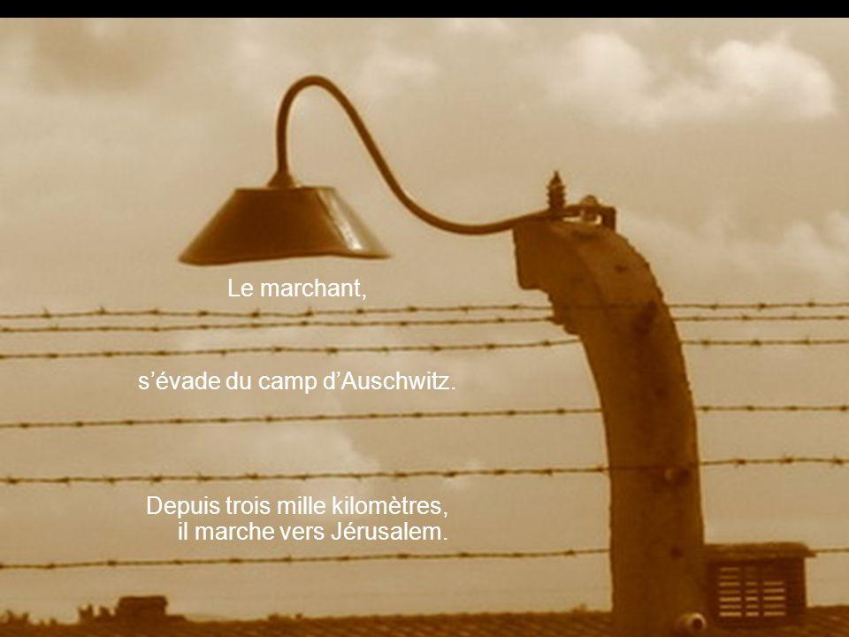 Le marchant, sévade du camp dAuschwitz. Depuis trois mille kilomètres, il marche vers Jérusalem.