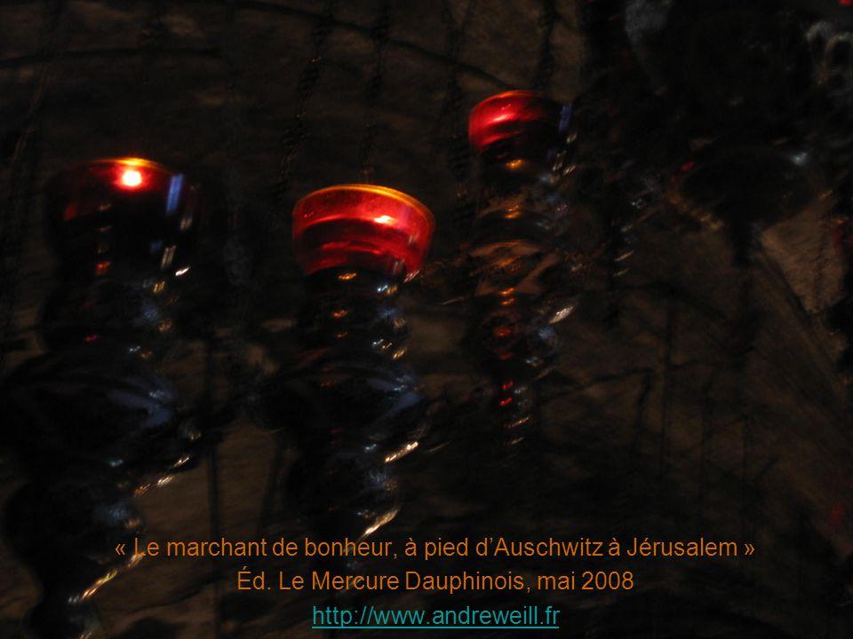 « Le marchant de bonheur, à pied dAuschwitz à Jérusalem » Éd. Le Mercure Dauphinois, mai 2008 http://www.andreweill.fr
