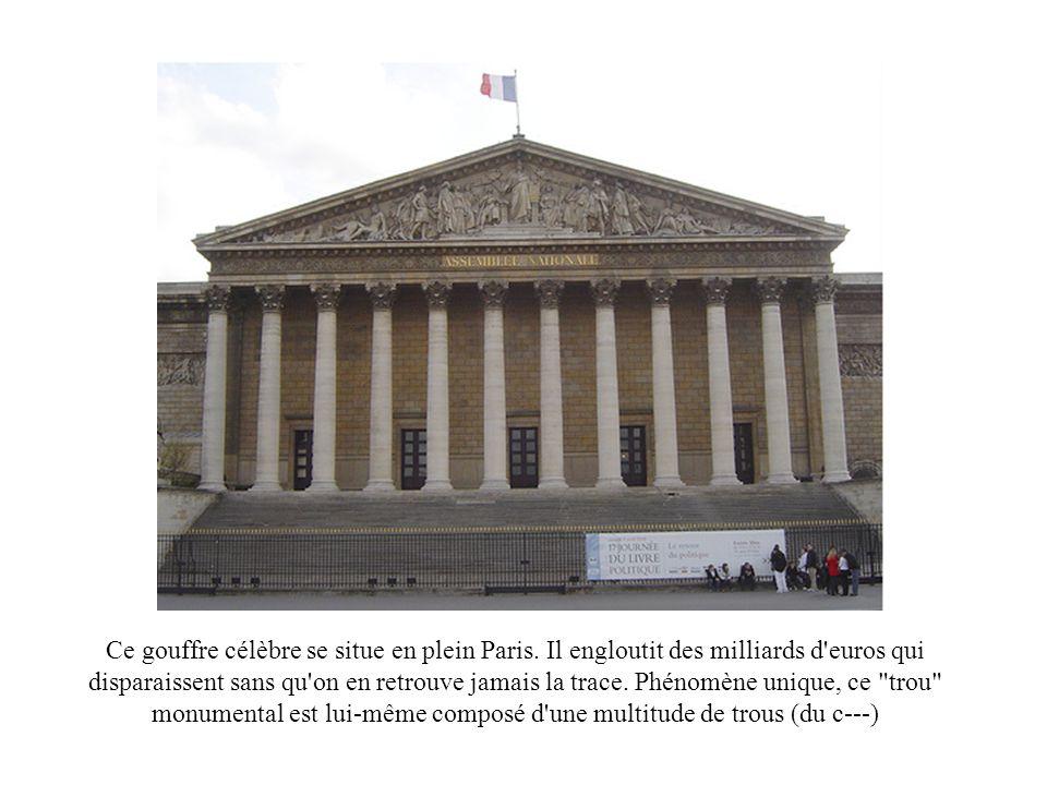 Ce gouffre célèbre se situe en plein Paris.