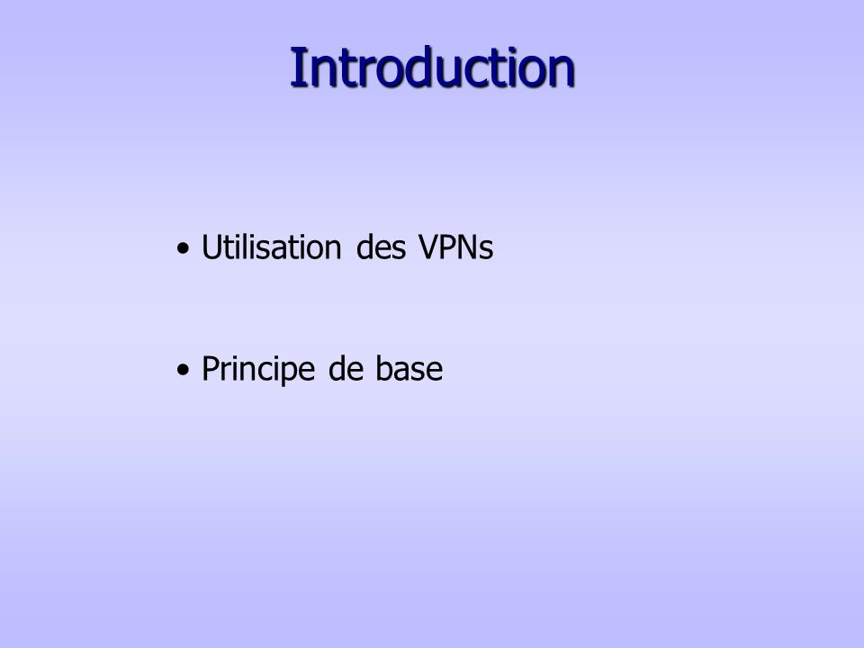 Liens utiles La documentation : - http://www.frameip.com/vpn/ - http://www.commentcamarche.net/initiation/vpn.php3 a) IPSec =>http://www.frameip.com/vpn/#3.4_-_Le_protocole_Ipsec c) L2TP =>http://www.frameip.com/l2tp-pppoe-ppp-ethernet// ftp://ftp.rfc-editor.org/in-notes/rfc2661.txt b) PPTP => http://www.frameip.com/vpn/#3.2_-_Le_protocole_Pptp e) SSL => http://www.awt.be/web/sec/index.aspx?page=sec,fr,100,010,006 d) MPLS => http://www.frameip.com/mpls-cisco/ http://www.frameip.com/vpn/#3.5_-_Le_protocole_Mpls