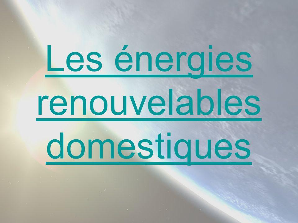 Avantages -Energie propre, silencieuse et gratuite.