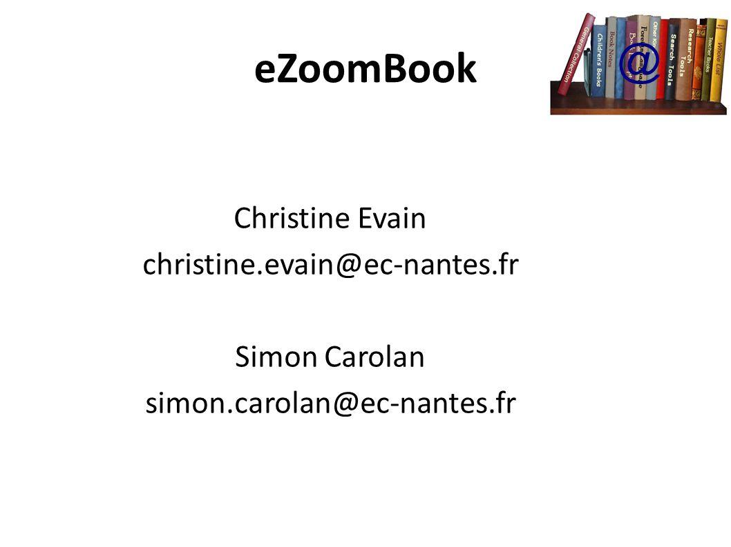 eZoomBook eZoomBook - Un outil innovateur d édition de promotion de vulgarisation de lecture personnalisée de découverte dœuvres inédites de participation dans le processus d édition @