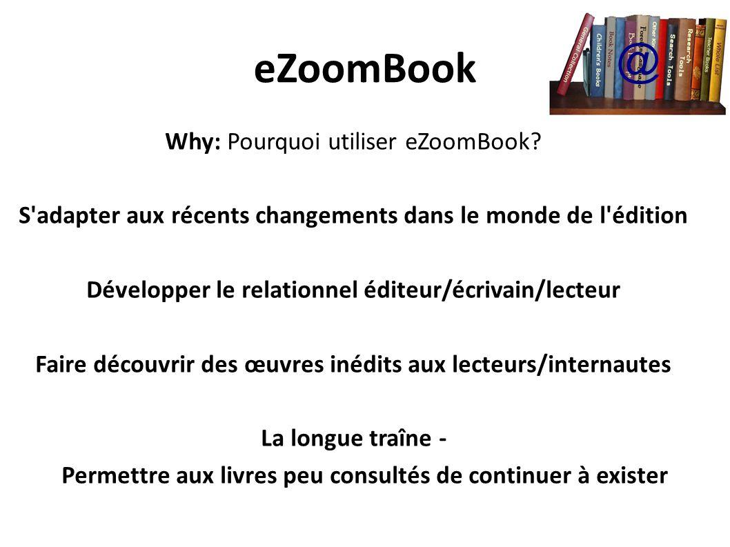 eZoomBook Why: Pourquoi utiliser eZoomBook.