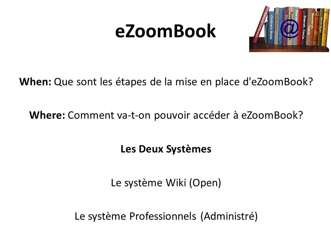 eZoomBook When: Que sont les étapes de la mise en place d eZoomBook.