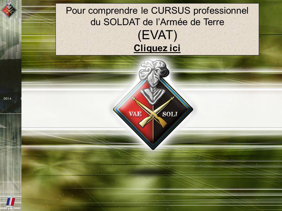 Pour comprendre le CURSUS professionnel du SOLDAT de lArmée de Terre (EVAT) Cliquez ici