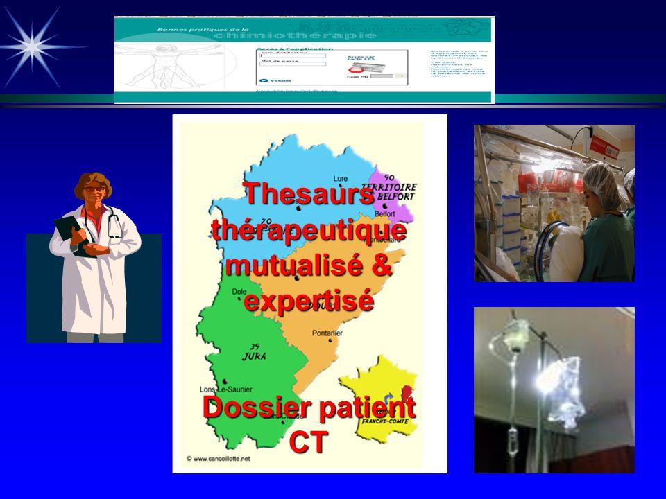 Thesaurs thérapeutique mutualisé & expertisé Dossier patient CT