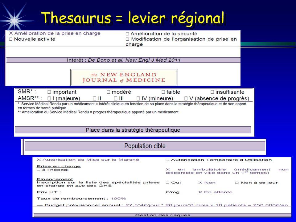 Thesaurus = levier régional