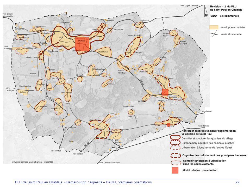 PLU de Saint Paul en Chablais - Bernard-Vion / Agrestis – PADD, premières orientations22