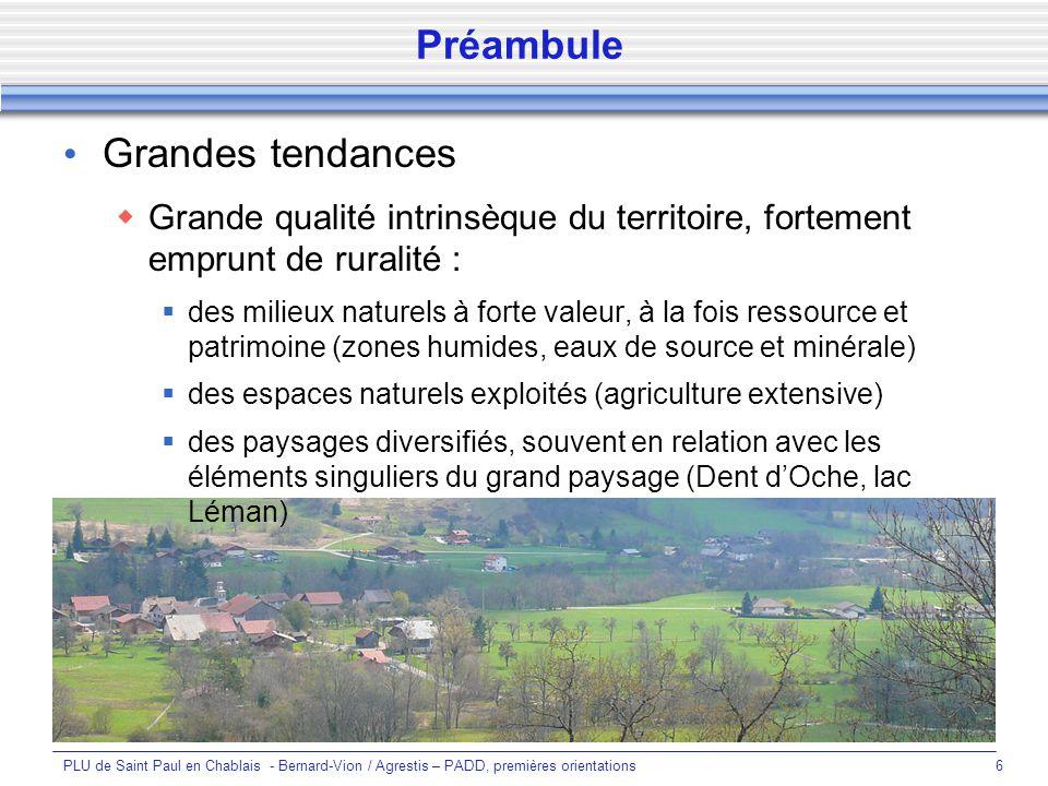 PLU de Saint Paul en Chablais - Bernard-Vion / Agrestis – PADD, premières orientations17