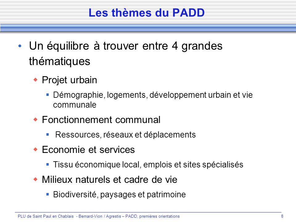 PLU de Saint Paul en Chablais - Bernard-Vion / Agrestis – PADD, premières orientations29